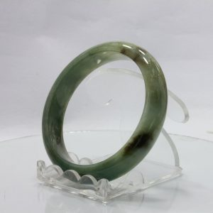 Jade Bangle Burmese Jadeite Comfort Cut Natural Stone Bracelet 6.7 inch 54.5 mm