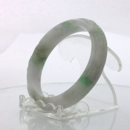 Jade Bangle Dragon Phoenix Carved Grade A Jadeite Stone Bracelet 6.8 inch 55 mm