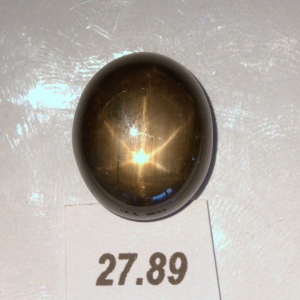 Thai Star Sapphire 18x15 mm Oval Cab Untreated Six Points Natural 17.89 carat