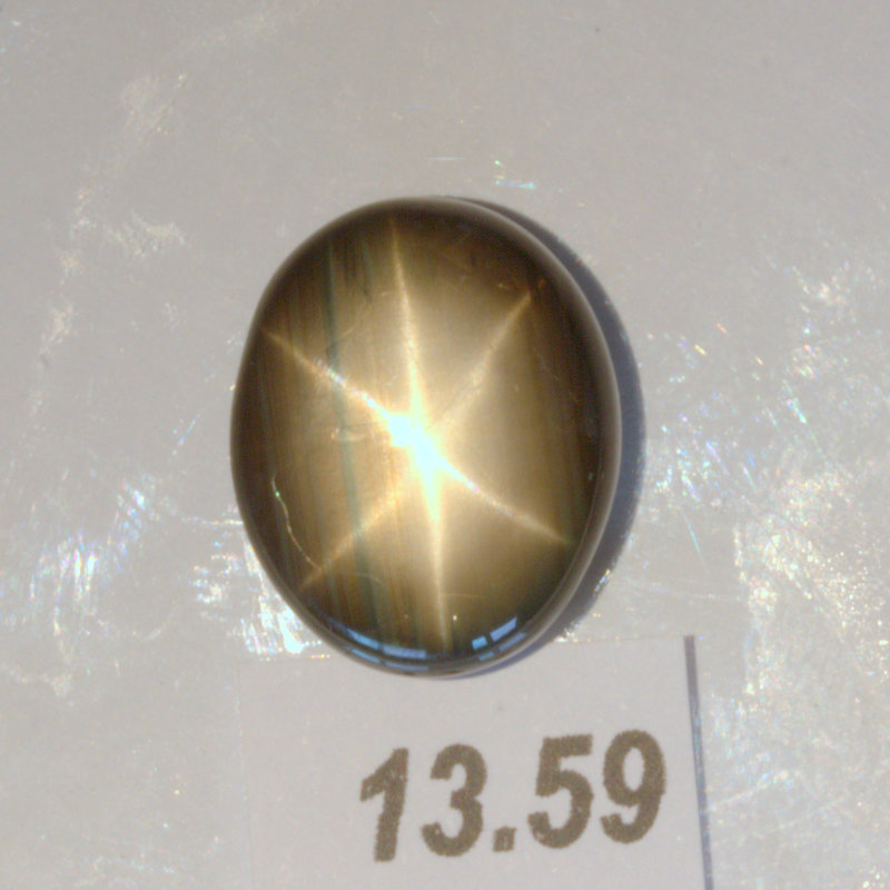 Star Sapphire 15x12mm Oval Cab Thailand Natural Six Point Untreated 13.59 carat