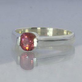 Ring Red Purple Pink Burma Spinel Handmade Sterling Ladies Design 55 size 6.5