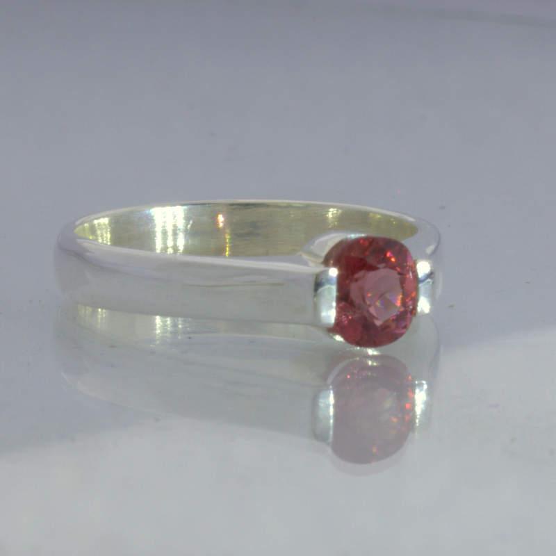Ring Red Purple Pink Burma Spinel Handmade Sterling Ladies Design 55 size 6.5