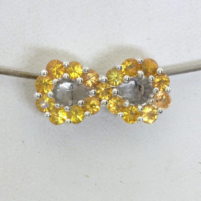 Pendant Infinity Symbol Figure 8 Eternity Yellow Sapphire 925 Unisex Design 485