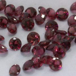 One Spinel Red 3 mm Burmese VS Diamond Cut Round Accent Gemห Average .11 carat