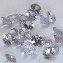 One White Spinel 2.5mm Diamond Cut Round Burmese VS Accent Gem Average .05 carat