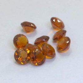 Citrine Parcel Yellow Orange Quartz 3.5 mm Round VS Clarity Gem 1.60 carat total