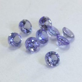 Tanzanite One Blue Purple Faceted 2.9 mm Round Cut VS Gemstone Average .11 carat
