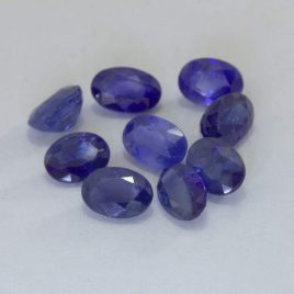 Blue Sapphire 5x3.5 mm Faceted Oval Ceylon Accent Gemstones Average .38 carat