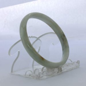 Jade Bangle Burmese Jadeite Comfort Cut Natural Stone Bracelet 9 inch 73.5 mm