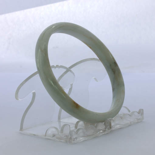 Jade Bangle Burmese Jadeite Comfort Cut Natural Stone Bracelet 9 inch 73.5 mm