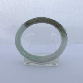 Jade Bangle Burma Jadeite Comfort Cut Natural Stone 53 x 46 mm Rare Oval Shape
