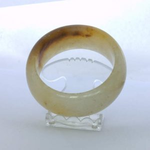 Bangle Burma Citrus Rust Color Chalcedony Quartz Stone Bracelet 7.6 inch 61.5 mm