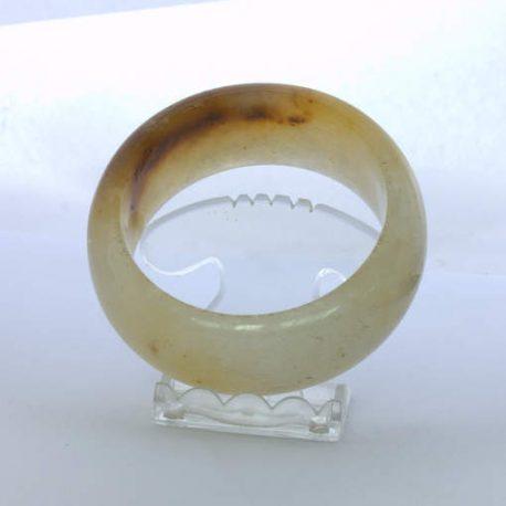 Bangle Burma Citrus Rust Color Chalcedony Quartz Stone Bracelet 7.6 inch 61.5 mm