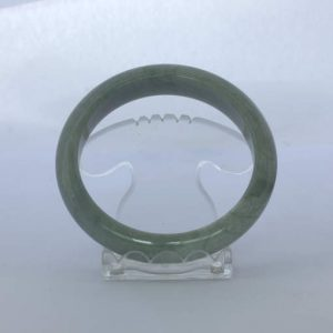 Jade Bangle Burmese Jadeite Comfort Cut Natural Stone Bracelet 7.5 inch 61.4 mm