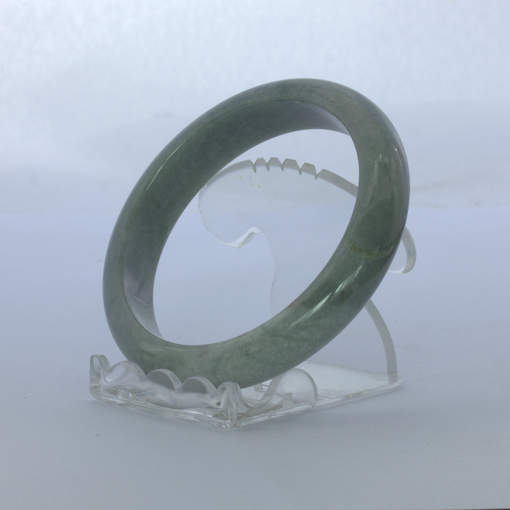 Jade Bangle Burmese Jadeite Comfort Cut Natural Stone Bracelet 7.5 inch 61.4 mm
