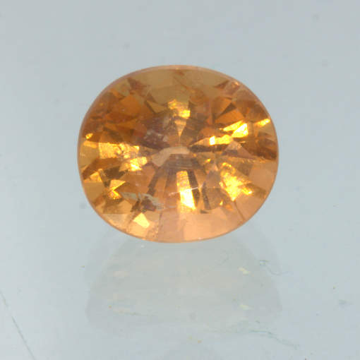 Orange Spessartite Garnet 6.3x5.6 Oval VS Clarity Untreated Gemstone 1.25 carat