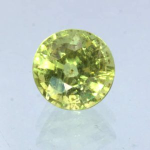 Yellow Sapphire 5.5 mm Round VS Clarity Untreated Madagascar Gemstone .95 carat