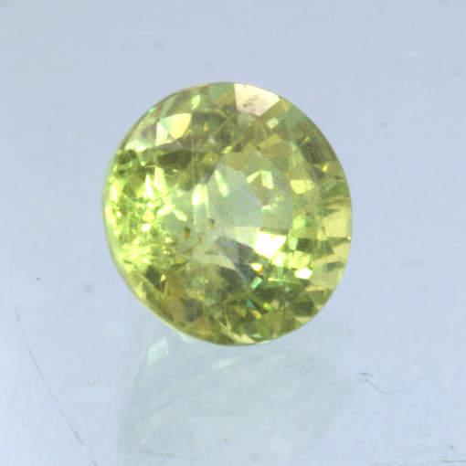 Yellow Sapphire 5.5 mm Round VS Clarity Untreated Madagascar Gemstone .95 carat