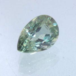 Green Sapphire Unheated 7x5 mm Pear VS Clarity Natural Madagascar Gem .97 carat