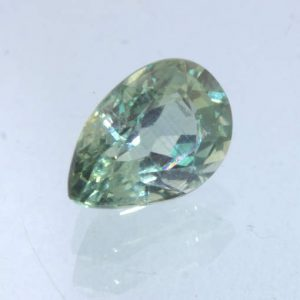 Green Sapphire Unheated 7x5 mm Pear VS Clarity Natural Madagascar Gem .97 carat