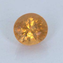 Fanta Orange Spessartite Garnet Unheated 6.6x6.1 mm Oval VS Clarity 1.50 carat