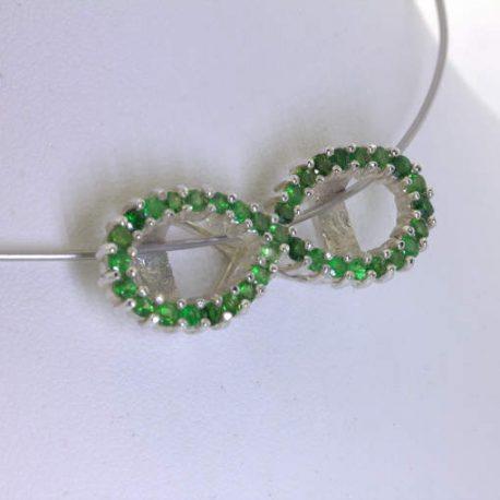 Pendant Tsavorite Green Garnet 925 Infinity Symbol Figure 8 Eternity Design 470