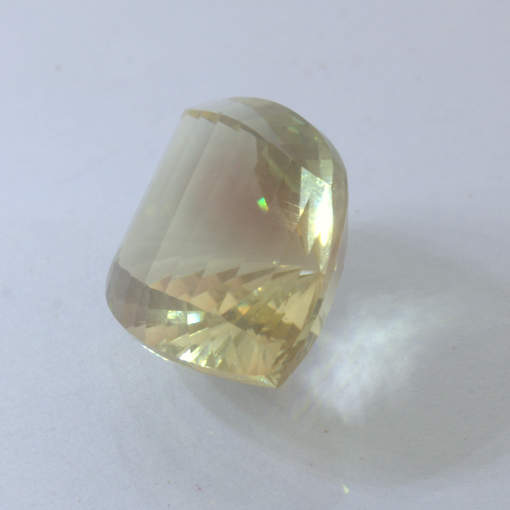Oregon Sunstone 17 x 11 mm Faceted Fancy Cut Copper Shiller Gemstone 7.77 carat