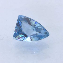 Spinel Sky Blue Faceted Fancy Cut Trillion 10.7x7.5 mm Lab Created 3.05 carat