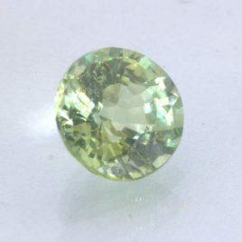 Mint Green Sapphire Unheated 5.2 mm Round VS Clarity Madagascar Gem .74 carat