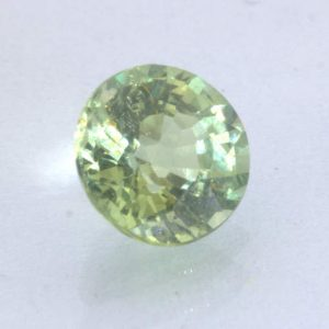 Mint Green Sapphire Unheated 5.2 mm Round VS Clarity Madagascar Gem .74 carat