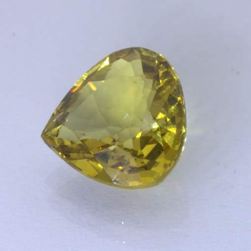 Mali Garnet 8.6x8.4 mm Pear VS Clarity Golden Yellow Untreated Gem 2.23 carat