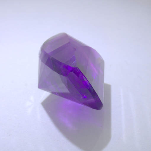 Amethyst Purple Faceted Fancy Cut 14.6 x 9 mm Untreated I2 Burma Gem 8.55 carat