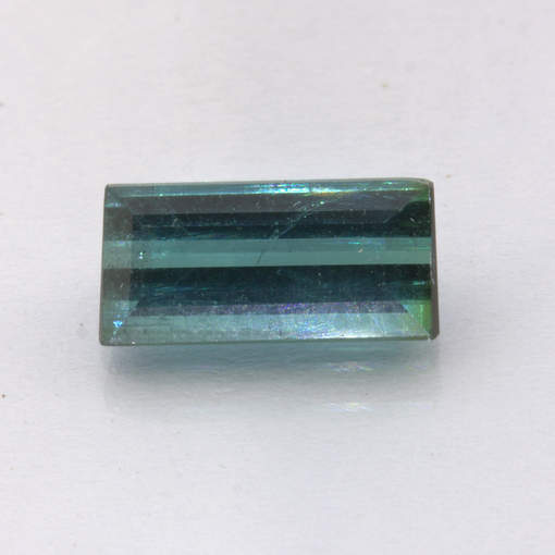 Indicolite Blue Tourmaline Faceted 9.4x4.5 Baguette Untreated Gem 1.36 carat