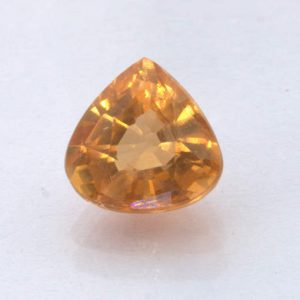 Fanta Orange Spessartite Garnet Unheated 6.6x6.5 mm Pear VS Clarity 1.37 carat