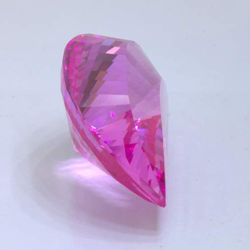 Pink Sapphire Faceted Fancy Pear Cut 22 x 14.8 mm Lab Created Stone 27.42 carat