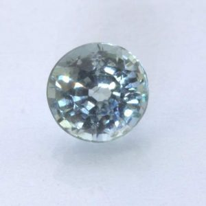 Gray Blue Sapphire Unheated 5.5 mm Round VS Clarity Natural Madagascar .88 carat