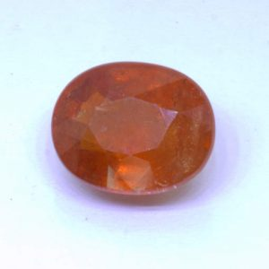 Red Orange Spessartite Garnet Unheated 11 x 9 mm Oval SI2 Clarity Gem 6.30 carat