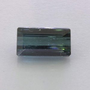 Indicolite Blue Tourmaline Faceted 11x5.9 Baguette Untreated Gemstone 2.81 carat