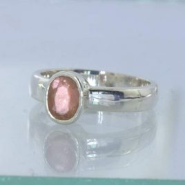 Sunstone Oregon Copper Shiller Handmade 925 Silver Ladies Ring size 6 Design 530