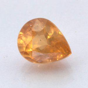 Fanta Orange Spessartite Garnet Unheated 7.5x6 mm Pear VS Clarity Gem 1.54 carat