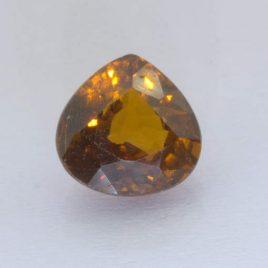 Mali Garnet 8.6x8.5 mm Pear VS Clarity Golden Brown Natural Untreated 2.95 carat