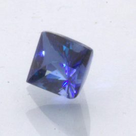 Blue Sapphire Fancy Square Cut Lab Created VVS FF Gemstone 8 x 6 mm 2.23 carat