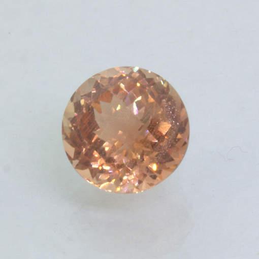 Oregon Sunstone Red Orange Copper Rose Pineapple Cut 8.3 mm Round Gem 2.36 carat