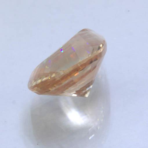 Oregon Sunstone 16.4x11.7mm Faceted Fancy Cut Copper Shiller Gemstone 6.30 carat