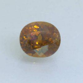 Mali Garnet Golden Brown 9x8 mm Oval VS Clarity Untreated Gemstone 3.22 carat