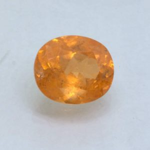 Fanta Orange Spessartite Garnet Unheated 10x8 mm Oval SI Nigerian Gem 3.35 carat