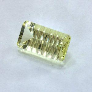 Yellow Citrine 15x8mm Rectangle Concave Cut VVS Clarity Untreated Gem 5.92 carat