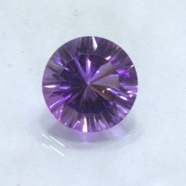 Purple Amethyst 11 mm Round Concave Cut VVS Clarity Untreated Gem 3.89 carat