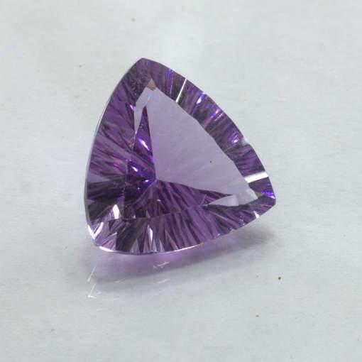 Purple Amethyst 13 mm Trillion Concave Cut VVS Clarity Untreated Gem 5.33 carat