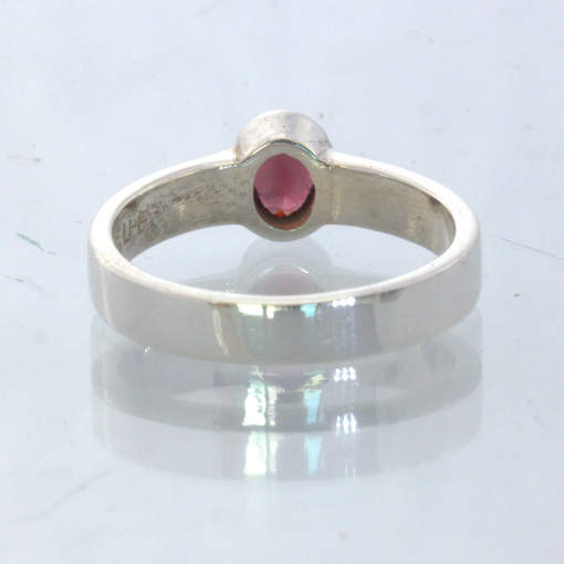 Red Burma Spinel Handmade Silver Stackable Ring size 4.75 Stacking Design 530